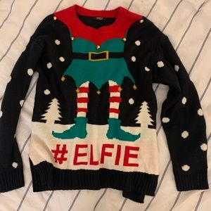 F21 Elf Christmas Sweater